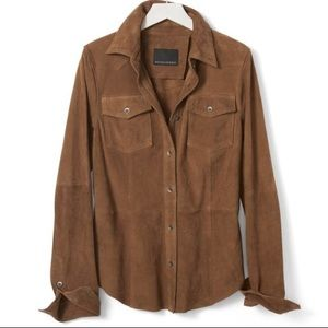 Banana Republic Suede Shirt Heritage Collection